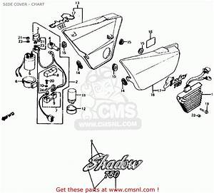 Honda Vt750c Shadow 750 1983 Usa Side Cover