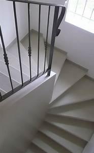 Escalier Colimaçon Beton : escalier b ton teint ton pierre 2 4 tournant mur d 39 chiffre pl tr e avec garde corps ~ Melissatoandfro.com Idées de Décoration