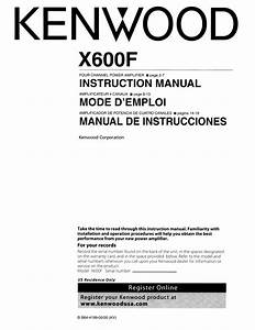 Download Free Pdf For Kenwood Excelon X600f Car Amplifier