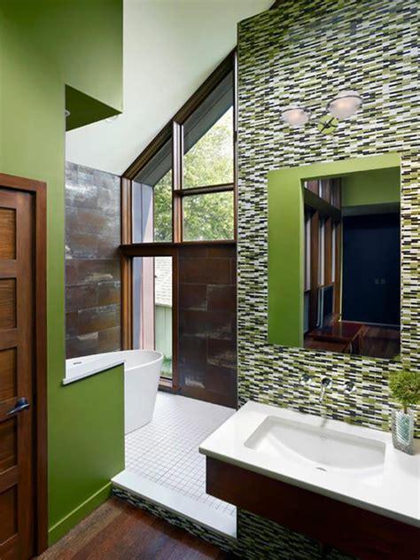 d 233 co reposante et tendance en vert pour la salle de bain