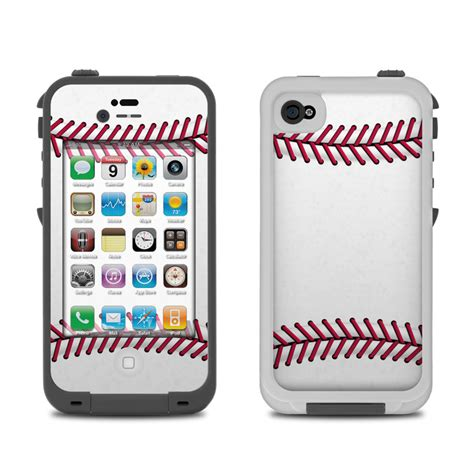 iphone four cases lifeproof iphone 4 skin baseball by sports decalgirl 1296