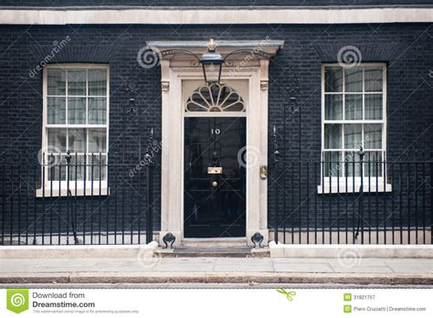 downing street  london editorial photography image