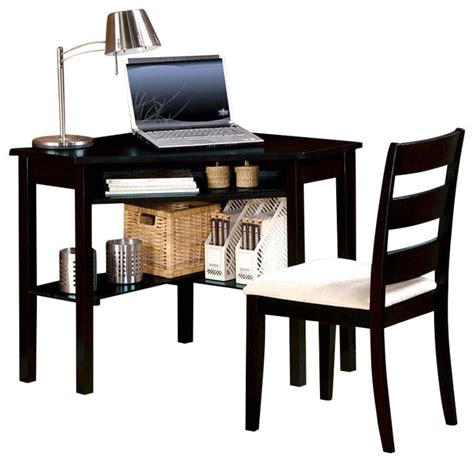 Black Writing Desk And Chair by 2 Pc Modern Functional Black Sand Computer Writing Corner