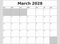 January 2028 Printable Calender