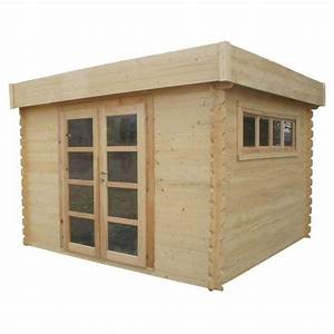 CHALET & JARDIN Abri de jardin en bois toit plat 3x3m
