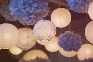 Boule Papier Deco : pompons et en decoration de mariage d coration mariage tendance ~ Teatrodelosmanantiales.com Idées de Décoration