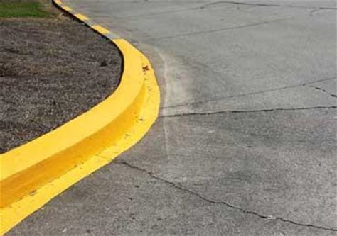 Street Road Curb Paint Stain Colors Safety Coating Non