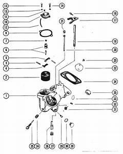 Mercury Marine 90 Hp  6 Cylinder  Carburetor Assembly Parts