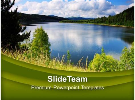 green natural environment beauty powerpoint templates