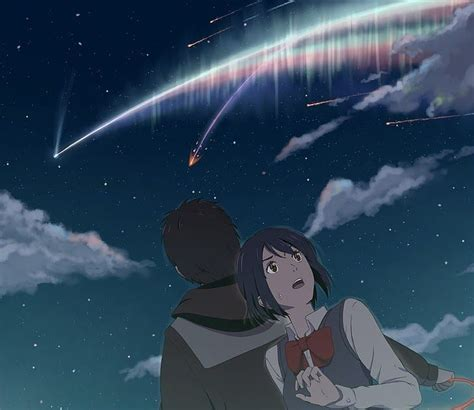 hd wallpaper your name anime wallpaper kimi no na wa sky