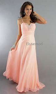 Light Pink Beaded Long Spaghetti Strap Chiffon – Wholesale ...
