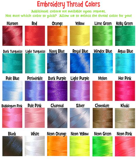 thread colors thread colors