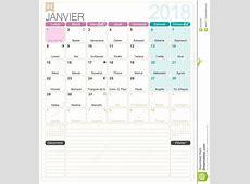 French calendar 2018 stock vector Illustration of desk