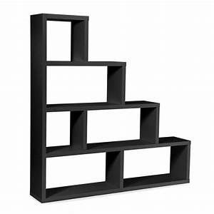 Etagere 6 Cases : tag re 6 cases escal 164cm noir ~ Teatrodelosmanantiales.com Idées de Décoration