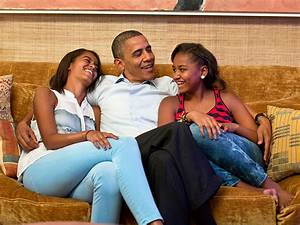 President Barack Obama Talks to Malia and Sasha About ...