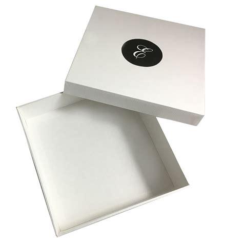 Monogram Printed White Mailing Box For Silk Invitation