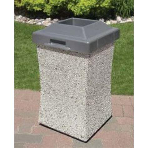 Wausau Tile Trash Can by Pool Furniture Supply 30 Gallon Concrete Pool Deck Trash