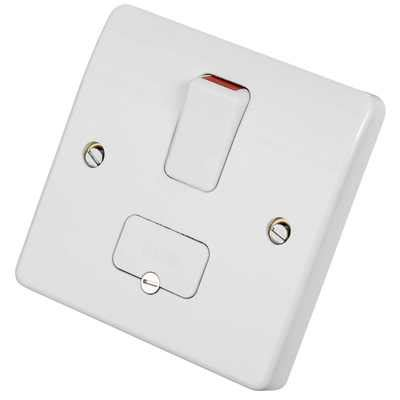 mk 13a dp switched fused spur with flex outlet white k330whi cef