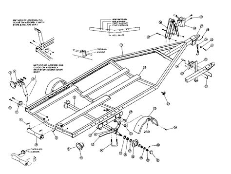 Boat Trailer Parts Names by Boat Trailer Parts Schematic Wiring Diagram