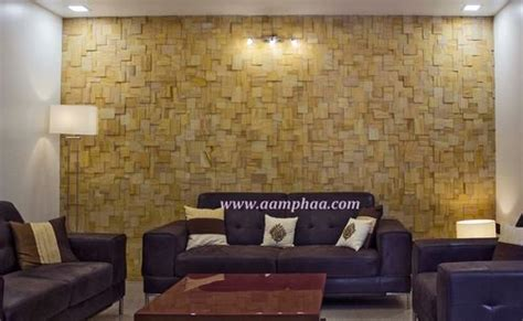 living room stone cladding  rs  sft stone wall
