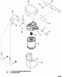 Fuel Filter For Mercruiser 454  502 Mpi Mag Bravo Gen Vi