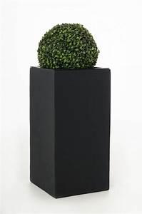 Pflanzkübel Für Draussen : blumenk bel pflanzk bel fiberglas block 80 cm anthrazit ~ A.2002-acura-tl-radio.info Haus und Dekorationen