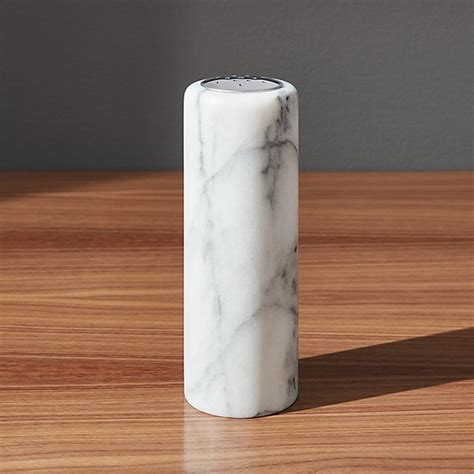 French Kitchen Marble Salt Pepper Shaker   Crate and Barrel