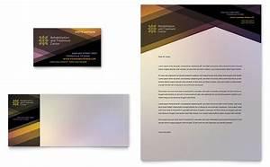 letterhead examples design rehab center business card letterhead template design