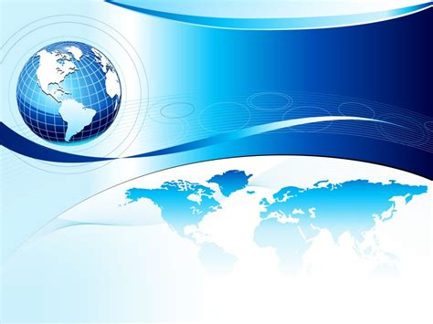 World Background Business World Globe With The Sky Backgrounds 3d Blue