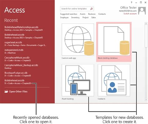 create base templates for multiple 1 creating your first database access 2013 the missing