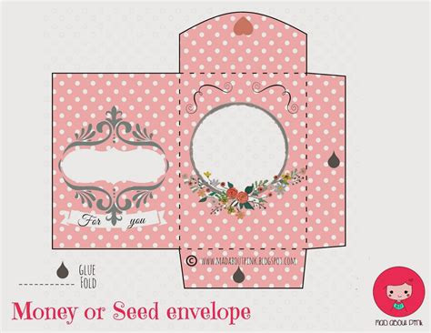 free printable envelope mad about pink lovely money or seed envelope free printable