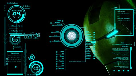 Rainmeter Animated Wallpaper - jarvis skin screenshot by scrollsofaryavart on deviantart