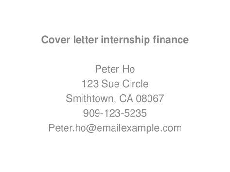 finance intership cover letters cover letter internship finance