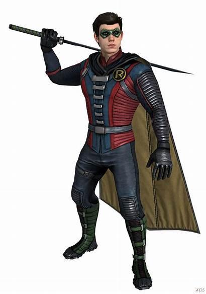 Injustice Robin Deviantart Ios Ogloc069 Damian Wayne