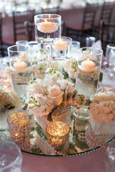 centrotavola candele galleggianti  fiori ub