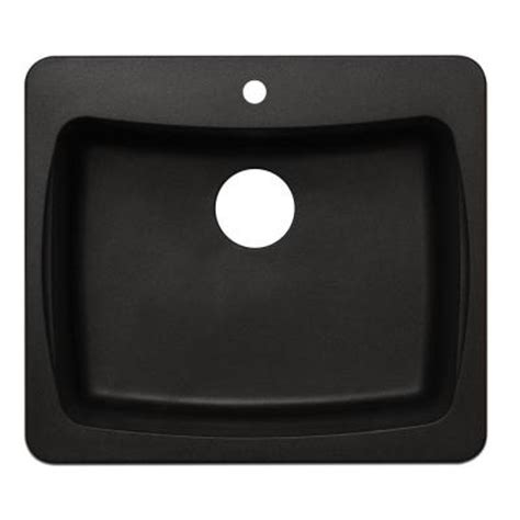 astracast dual mount granite 25 in 1 hole single bowl