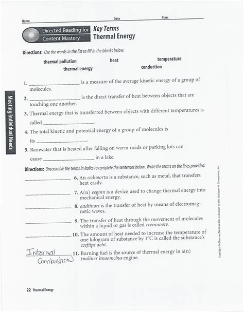 33 Thermal Energy Temperature And Heat Worksheet Answers ...