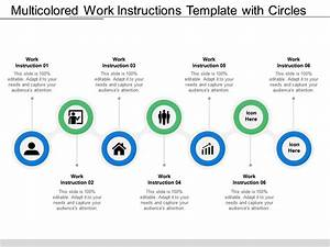 Multicolored Work Instructions Template With Circles And
