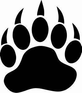 Bear Paw Print Vinyl Decal Sticker Car Truck Wall U Pick ...