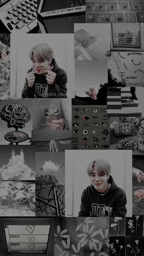 bts jimin black aesthetic wallpaper