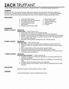 esthetician resume sample my perfect resume With free esthetician resume templates