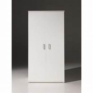 Armoire Blanche 2 Portes : armoire 2 portes milan blanc achat vente armoire de chambre armoire 2 portes milan blanc ~ Teatrodelosmanantiales.com Idées de Décoration