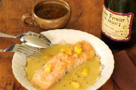cuisine au cidre saumon aux pommes et au cidre le brun cuisine à l 39 ouest
