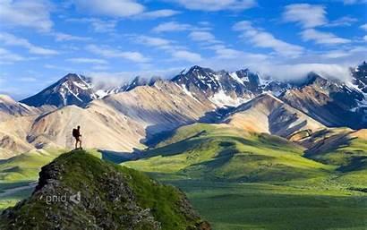 Hiking Alaska National Park Nature Mountain Wallpapers