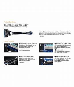 Gillette Fusion Proglide Manual Razor  Buy Gillette Fusion