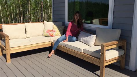 ana white  arm outdoor sectional piece diy projects
