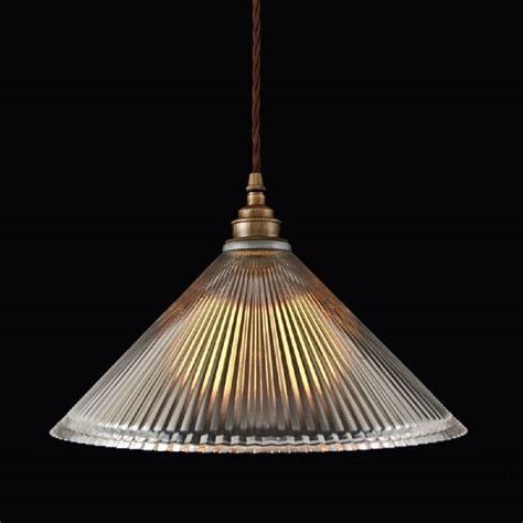 glass pendant light ribbed glass pendant light shade on braided cord cable