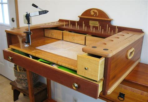fly tying desk for sale fly tying stand by summerfi lumberjocks com