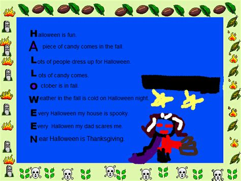 Halloween Acrostic Poem Ideas by Halloween Acrostic Poems Festival Collections