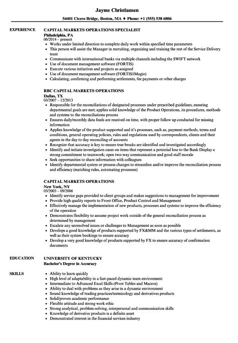 business operations specialist sle resume tips for